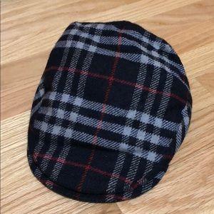 Burberry Newsboy Blue Plaid Cap